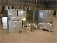 image shows sheet metal fabrication at Central Heating and Air Conditioning in Kinston, NC
